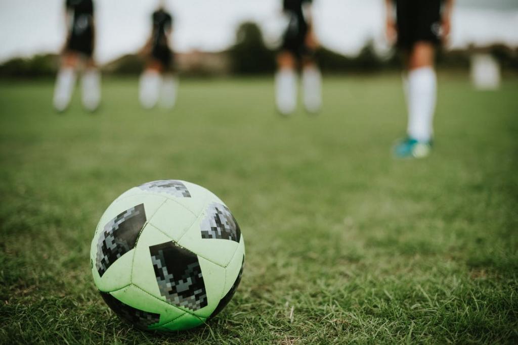 A ball on a field