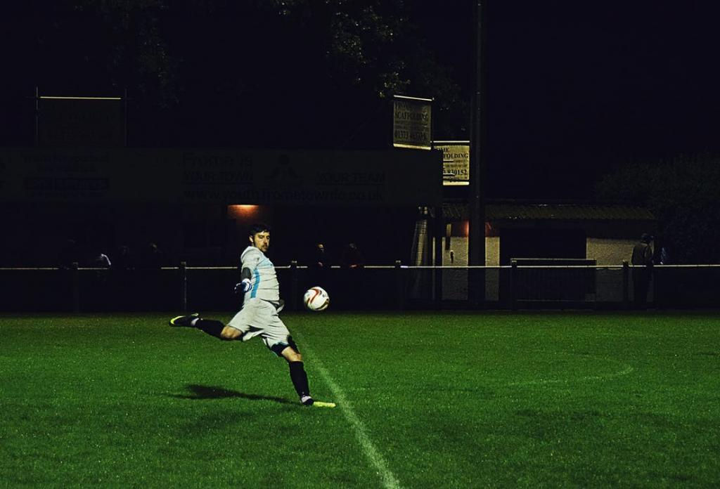 A man playing a late night game